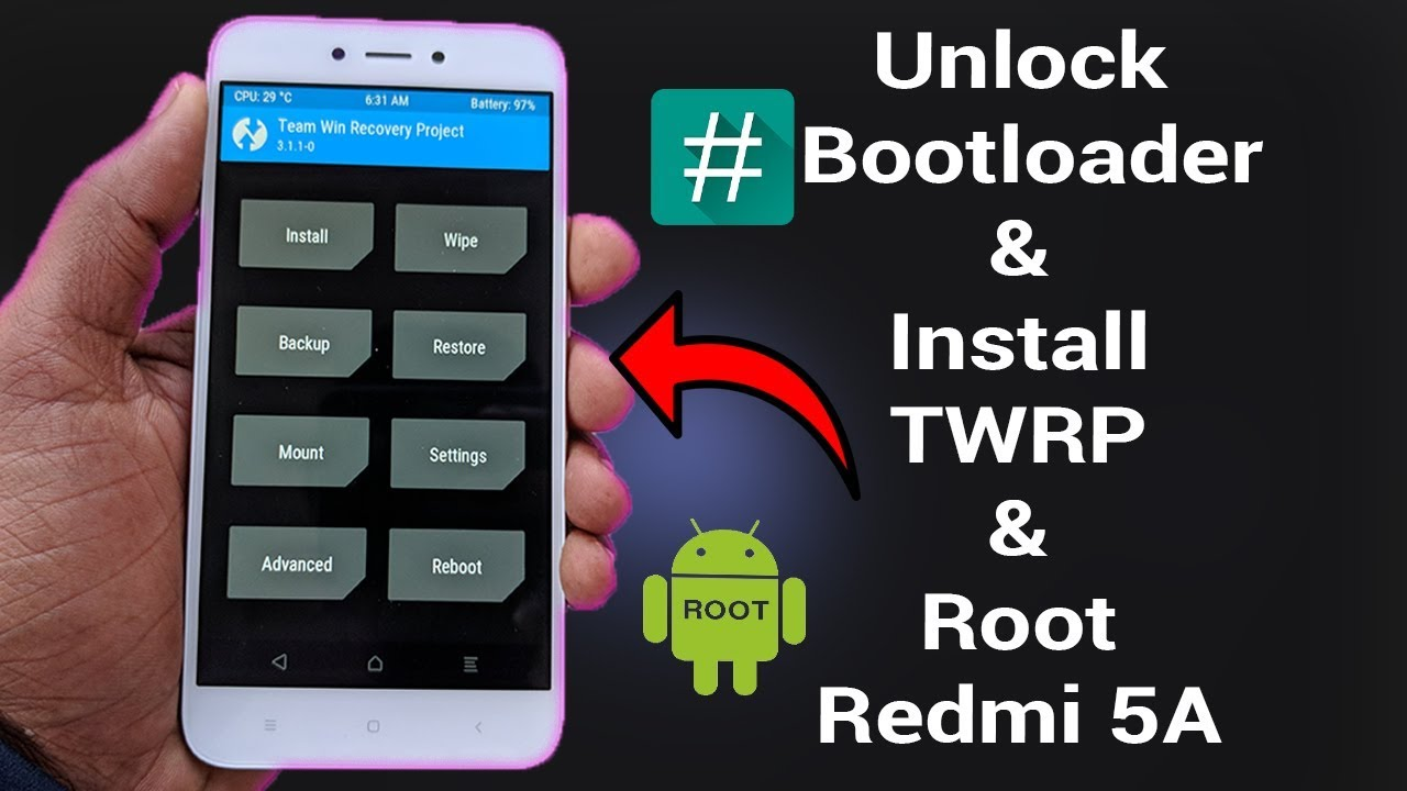 Flash Official TWRP Recovery for Xiaomi Redmi 5A