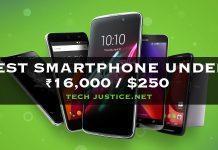 Best Smartphone Under Rs 16,000/$250